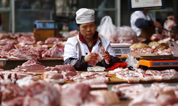 Chinese Meat worker